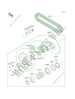 Driven ConverterDrive Belt per Kawasaki Brute Force 750 4x4i 2009