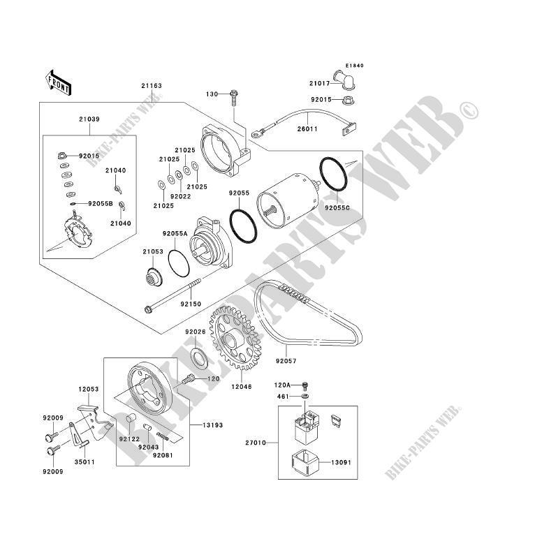 Schema Elettrico Kawasaki Er 5 : Motorino di avviamento kawasaki er c p